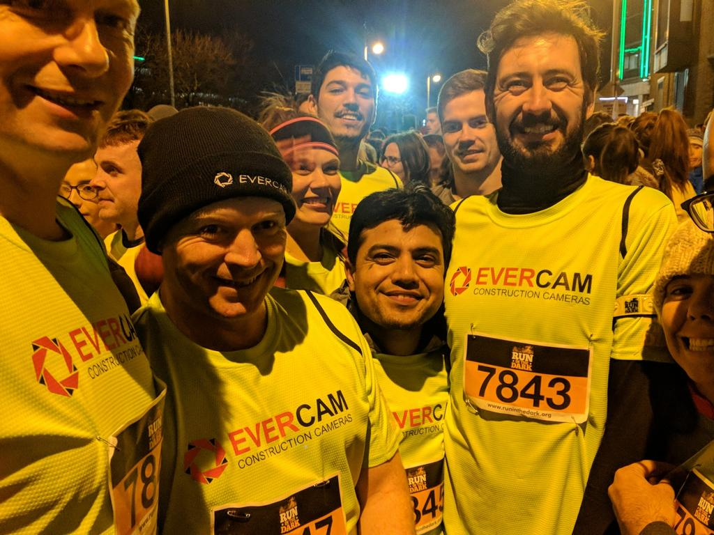 Team Evercam at Run in the Dark Dublin