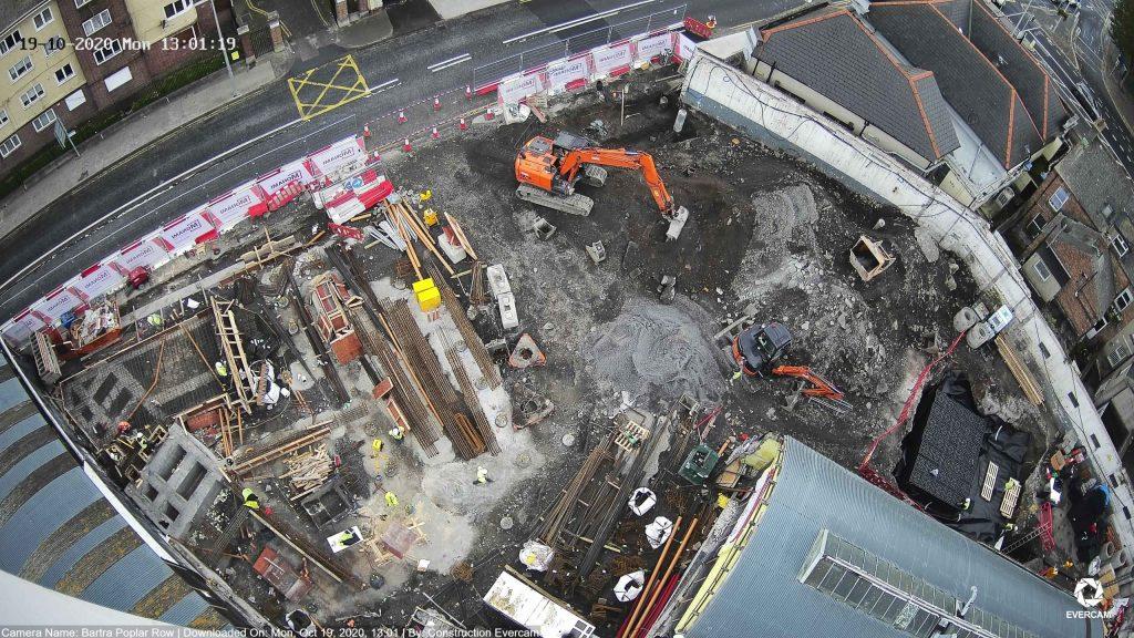 Camera view of the construction progress by Evercam construction cameras