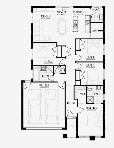 """Floor Plan of """"The Aspire"""""""
