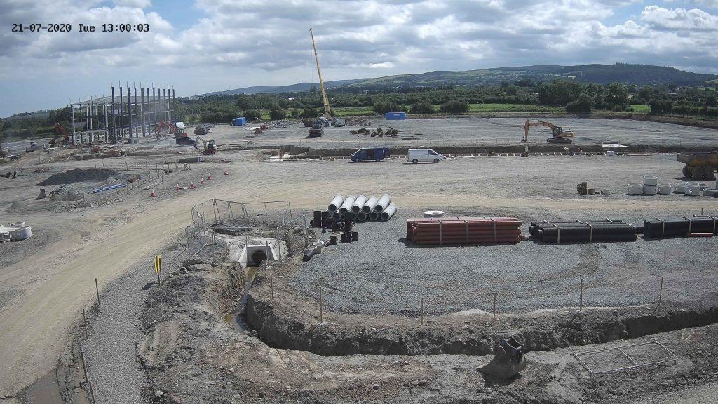 Camera view of Greenogue Unit Bconstruction site