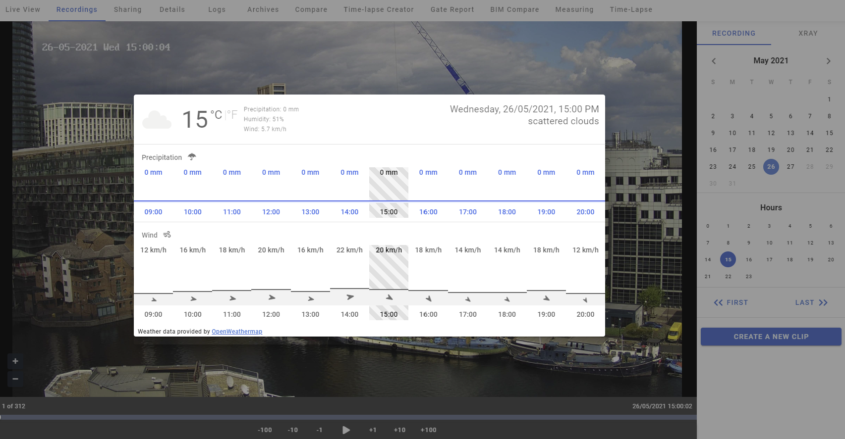 New Feature: Historical Weather Data